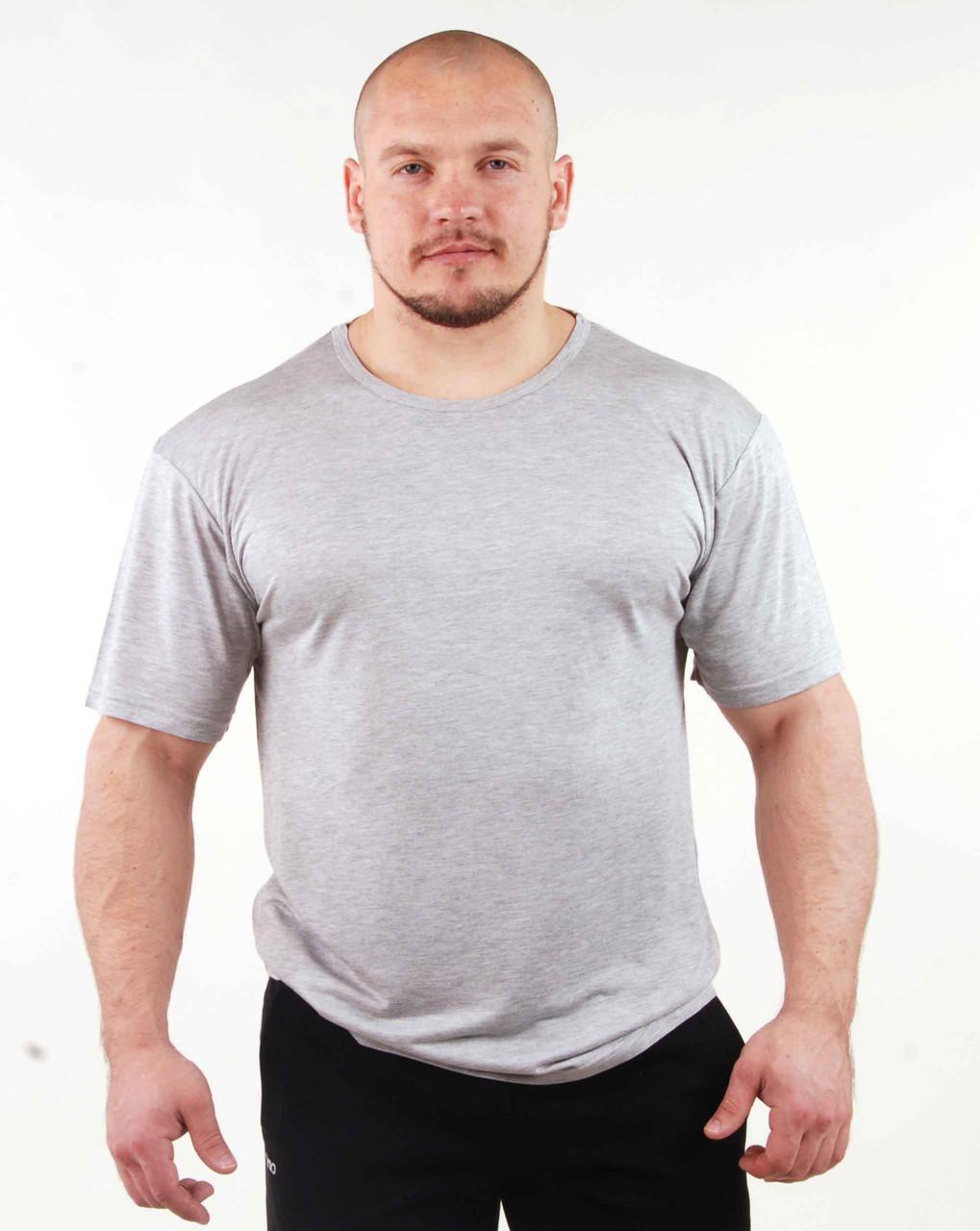 Мужская футболка светло-серая 98
