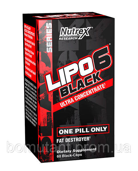 Lipo 6 black ultra concentrate 60 black-капсул Nutrex