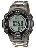 Мужские часы Casio Pro Trek PRW-3000T-7 Касио японские кварцевые