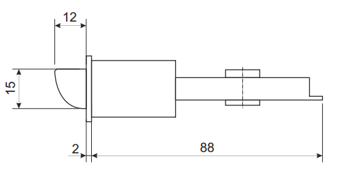 Чертеж: защелка Апекс 6093-01 AN