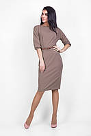 Элегантное трикотажное платье с отрезной талией