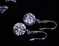 Восхитительные серьги покрытие серебром, фото 1