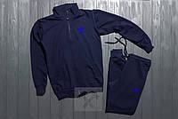 Адидас Adidas спортивный костюм на молнии темно синий