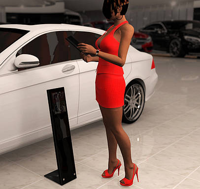 Информационный стенд для Mercedes-Bens