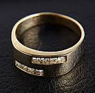 Женское кольцо из желтого золота с бриллиантами С7Л1№16