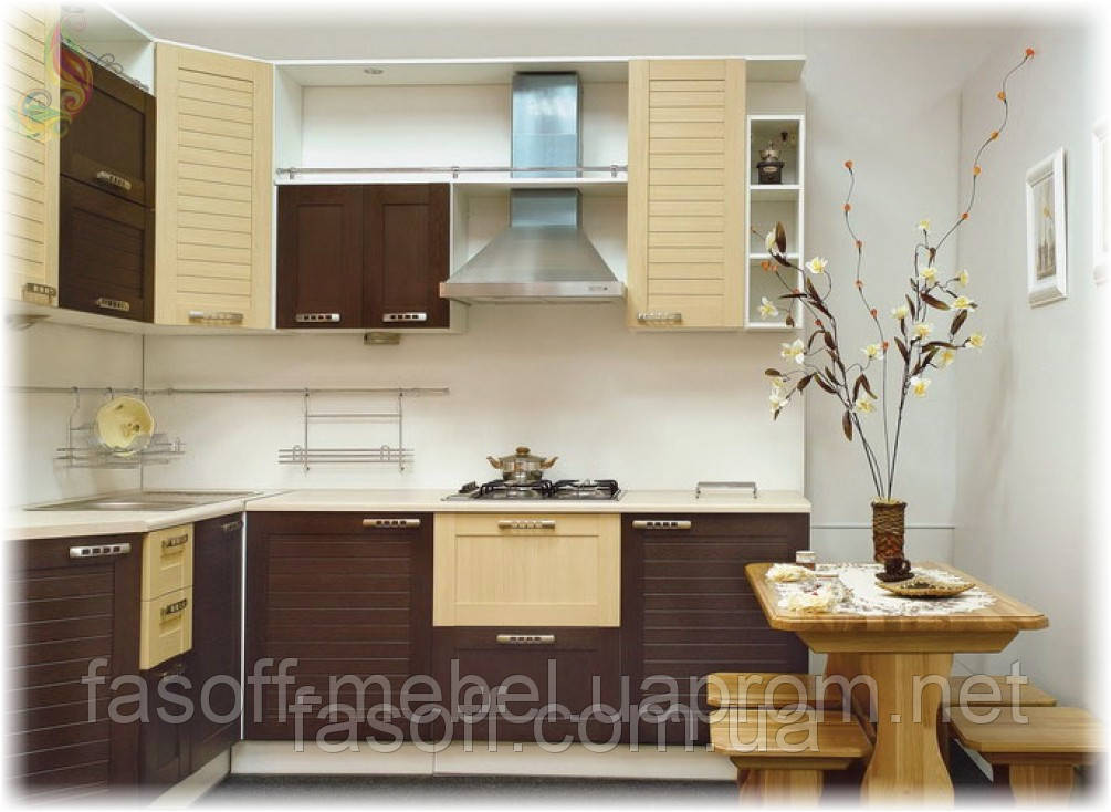 Кухня кантри-модерн МДФ пленочный 018