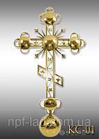 Крест православный с напылением нитрид титана КС-01