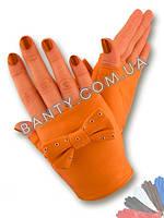 Женские перчатки без пальцев модель 339