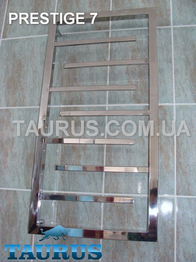 Полотенцесушитель Prestige 7/850х450 из нержавеющей стали от ТМ TAURUS. Гибридный, водяной и электро