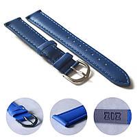 Ремешок для часов дизайнерский синий, серебро