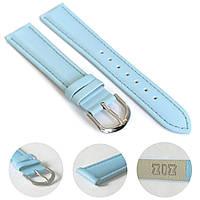 Ремешок для часов дизайнерский голубой, серебро