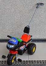 Мотоцикл Alexis-Babymix 3х колісний Police з батьківською ручкою