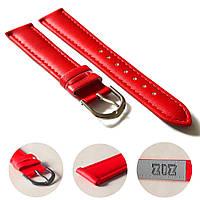 Ремешок для часов дизайнерский красный, серебро