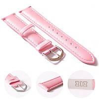 Ремешок для часов дизайнерский розовый, серебро