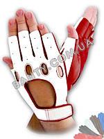 Женские вело перчатки без пальцев модель 314