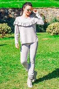 "Трикотажный костюм ""Stefani"", серый"
