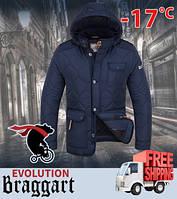 Зимняя куртка мужская с капюшоном 48, Синий