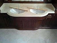 Столешница в ванную из мрамора Botticino