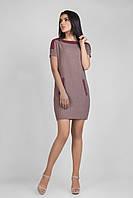 Вязаное платье с коротким рукавом