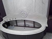 Облицовка ванной и стены с резьбой из мрамора Botticino