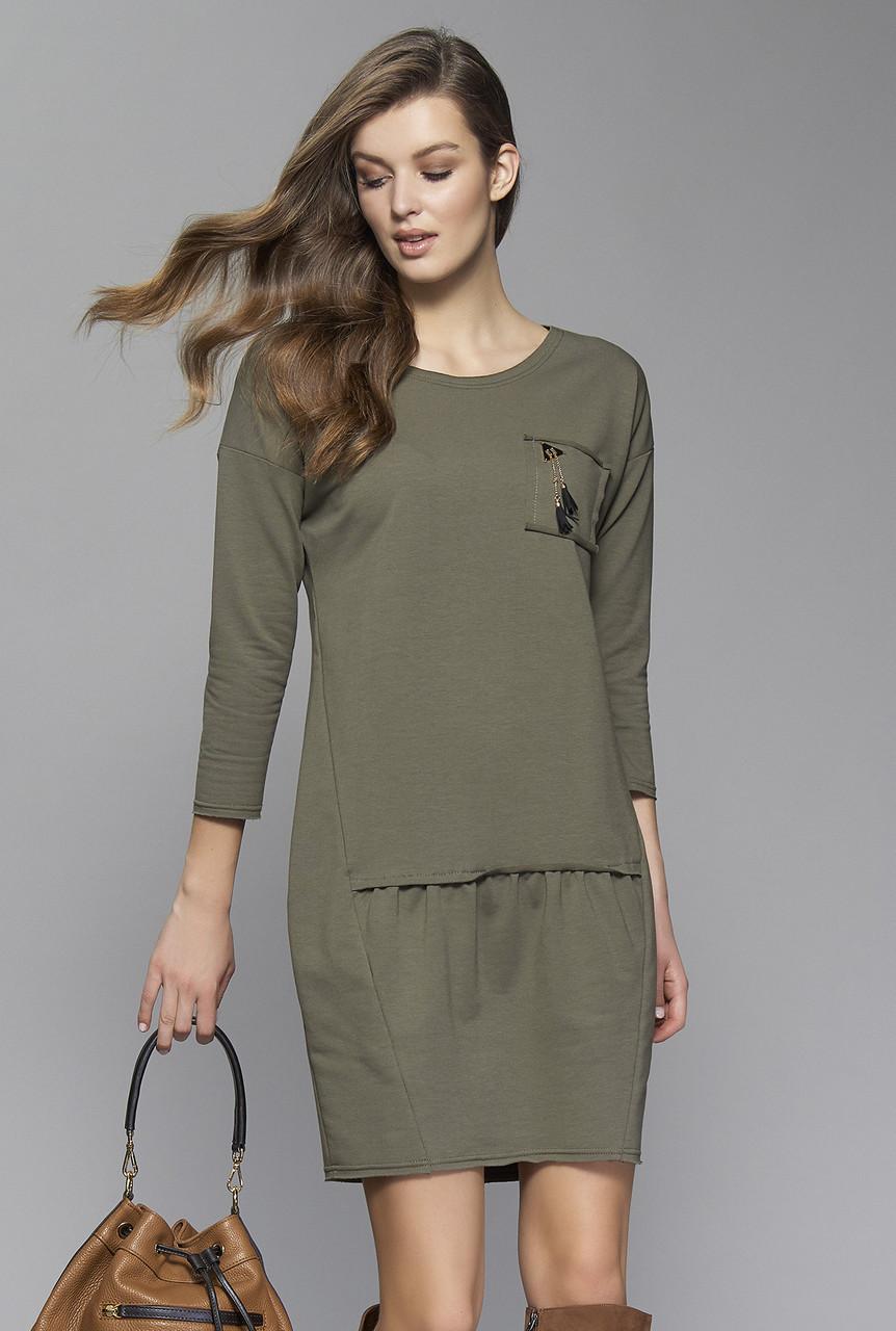 Женское платье Lolita Zaps цвета хаки, коллекция осень-зима