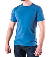 Мужская футболка синий джинс хлопок, фото 1