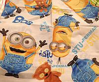 Детский постельный комплект бязь-голд Миньоны