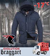 Стеганая зимняя куртка мужская 48, светло-синий