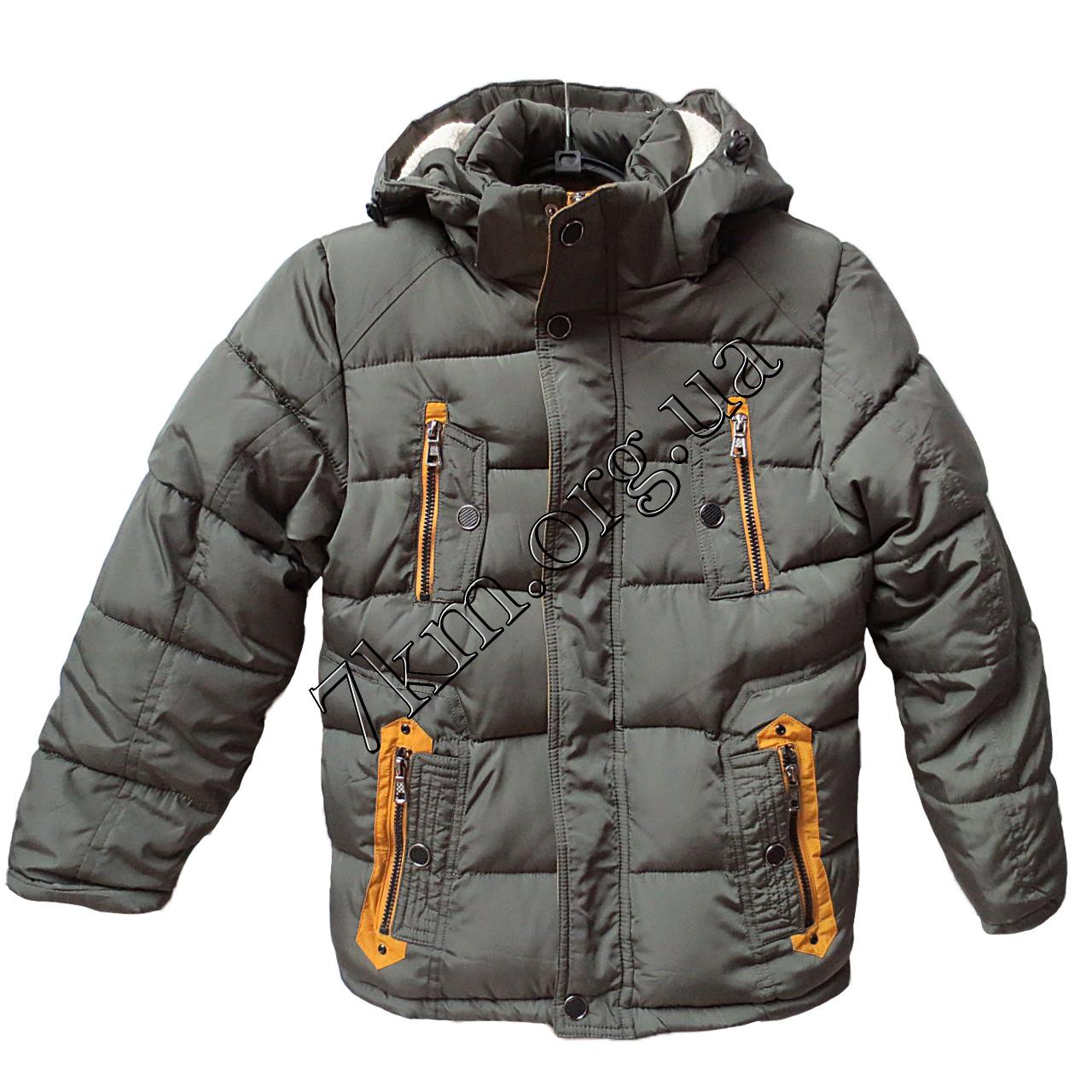 Детская куртка для мальчиков 128-140 см. хаки Китай Оптом 6603