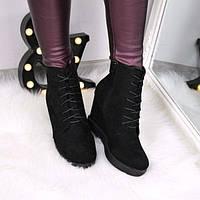 Ботильоны женские демисезонные Esma черные 3534, ботинки женские