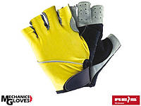 Велоперчатки Польша (перчатки без пальцев) RK3-FIN YBS