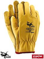Перчатки защитные кожаные REIS (RAW-POL) Польша RLCSYLUX Y