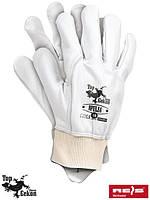 Перчатки защитные кожаные REIS (RAWPOL) Польша RPULSA W