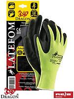 Защитные рукавицы черного цвета покрытые взбитым каучуком LATEFOM YB