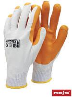 Перчатки защитные с покрытием и резинкой RECOREX WP