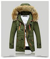 Мужская куртка парка ROUSEN в наличии, Осень-Зима, хаки. Размер 46-50