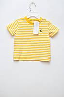 Футболка для мальчика в желто-белую полоску Ralph Lauren