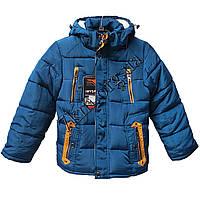 Детская куртка для мальчиков 116-140 см. синяя Китай Оптом Li 6603