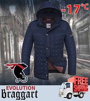 Куртка мужская стеганая короткая 46, синий-чёрный
