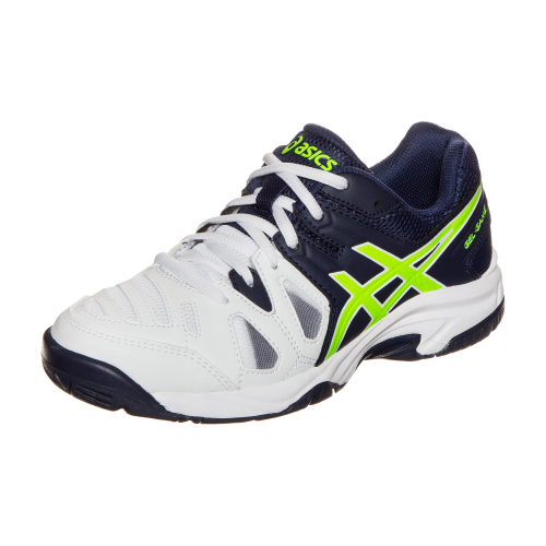 4cd1c38a Кроссовки детские Asics Gel-game 5 GS white/navy (C502Y-0149 ...