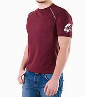 Мужская футболка тигр бордо, фото 1