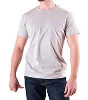 Мужская футболка светло-серая хлопок, фото 1