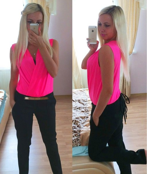 Женский комбинезон с брюками