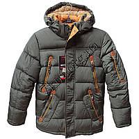 Куртка подростковая для мальчиков 128-152 см. лет хаки Китай Оптом Li 6604