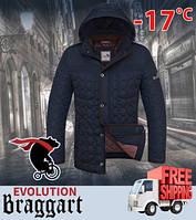 Куртка мужская с теплой подкладкой 46, т.син-коричн.