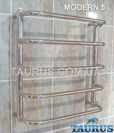 Modern 5/450 мм. полотенцесушитель нержавеющий от ТМ TAURUS. Комбинированный, водяной, электро