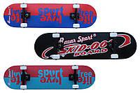 Скейтборд спортивный Free Life, 3 цвета: размер 80х20см, ABEC5
