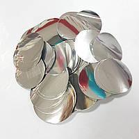 Конфетти кружочки серебро 25г