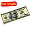 """Сувенирные деньги """"100$ доллар сувенирный Старого образца"""" упаковка 80купюр, фото 5"""