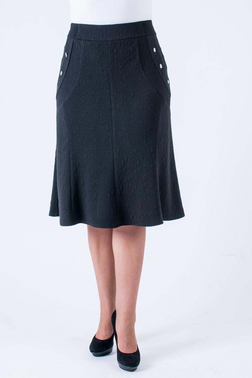 Женская юбка с карманами черного цвета
